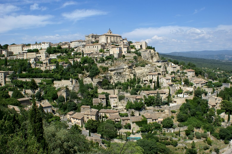 Gordes (Vaucluse) - Vue d'ensemble du village